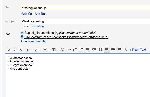 Tutorial: How to use Meetin.gs with email - Meetin.gs
